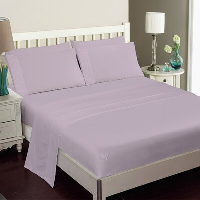 Kegan 4 Piece Rayon from Bamboo Sheet Set Color: Purple
