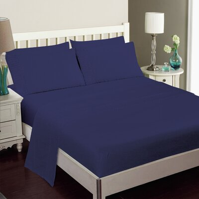 Gulliver 6 Piece Polyester/Rayon from Bamboo Sheet Set Color: Blue, Size: Queen