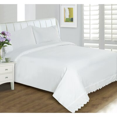 Buffalo Lace 400 Thread Count Sheet Set Size: Full, Color: White