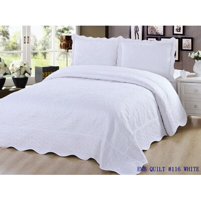 Quilt Set Size: Queen, Color: White
