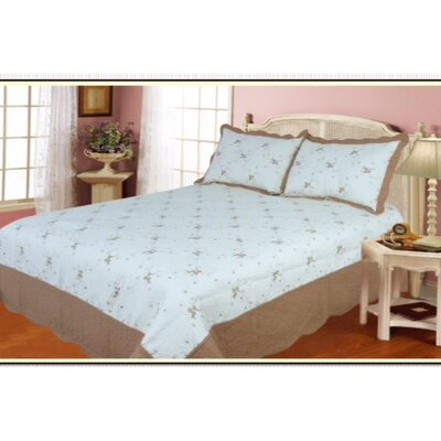 Cotton 3 Piece Quilt Set Size: King, Color: Taupe