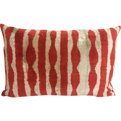 Velvet Lumbar Pillow Color: Rust Zebra