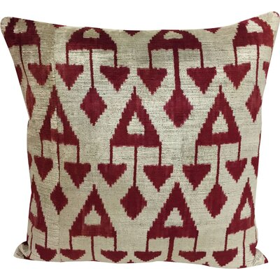 Chandelier Velvet Throw Pillow Color: Wine Berry
