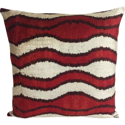 Wave Velvet Throw Pillow