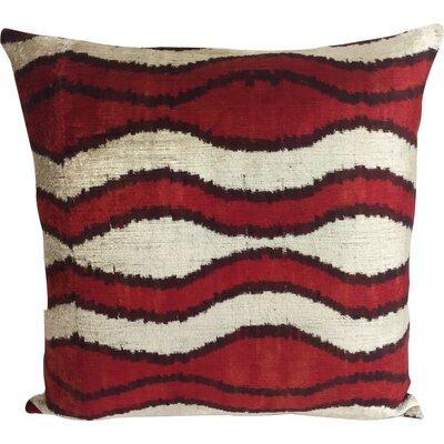 Wave Velvet Throw Pillow