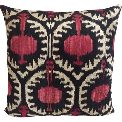 Pomegranate Velvet Throw Pillow