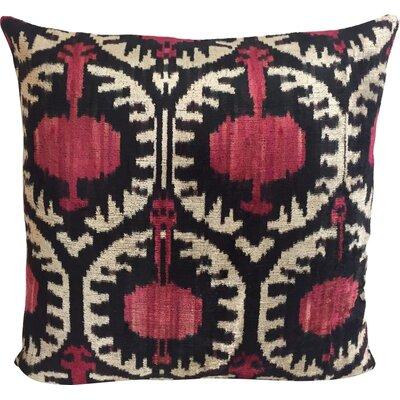 Pomegranate Velvet Throw Pillow
