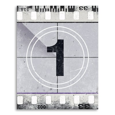 "Movie Prints 'Movie Poster Film Reel Countdown Number 1' Graphic Art on Paper Size: 10"" H x 8"" W CJ-Film-1-x1-8x10"