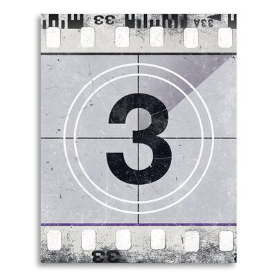 "Movie Prints 'Movie Poster Film Reel Countdown Number 3' Graphic Art on Paper Size: 10"" H x 8"" W CJ-Film-3-x1-8x10"