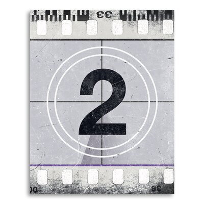 "Movie Prints 'Movie Poster Film Reel Countdown Number 2' Graphic Art on Paper Size: 10"" H x 8"" W CJ-Film-2-x1-8x10"