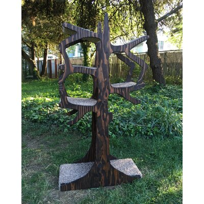 Handmade Inspired Cat Tree Size: 60 H x 30 W x 12 D, Color: Early American
