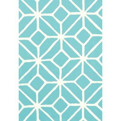Trina Turk Trellis Print Fabric Upholstery: Pool