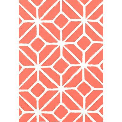 Trina Turk Trellis Print Fabric Upholstery: Watermelon