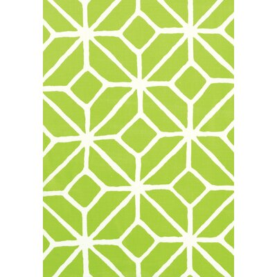Trina Turk Trellis Print Fabric Upholstery: Apple - Green