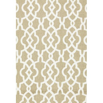 Summer Palace Fret Fabric Upholstery: Sand