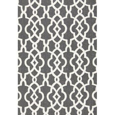 Summer Palace Fret Fabric Upholstery: Smoke