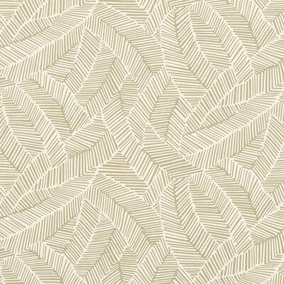 Good Vibration Abstract Leaf Fabric Upholstery: Taupe