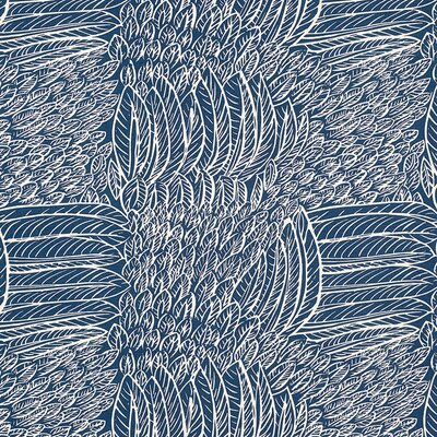 Good Vibration Featherfest Fabric Upholstery: Navy