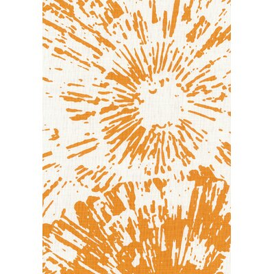 Good Vibrations Fireworks Fabric Upholstery: Mandarin