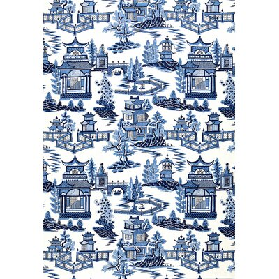Exuberant Prints Nanjing Fabric Upholstery: Porcelain