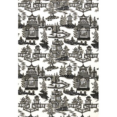 Exuberant Prints Nanjing Fabric Upholstery: Smoke