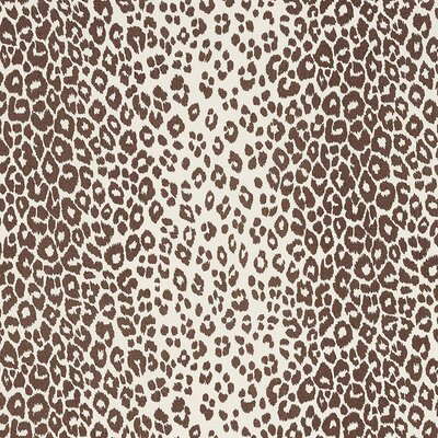 Iconic Leopard Fabric Upholstery: Brown