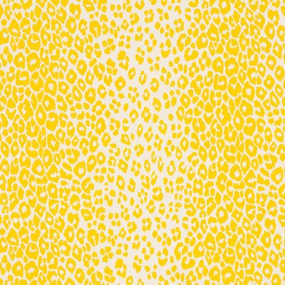 Iconic Leopard Fabric Upholstery: Yellow
