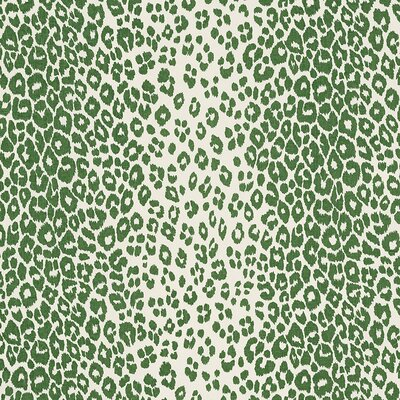 Iconic Leopard Fabric Upholstery: Green