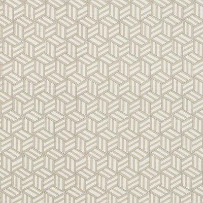 Miles Redd Tumbling Blocks Fabric Upholstery: Greige