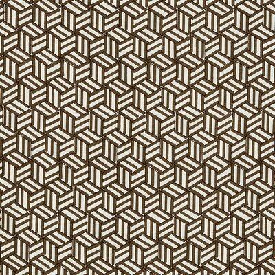 Miles Redd Tumbling Blocks Fabric Upholstery: Chocolate