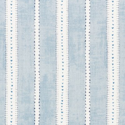 French Revolution Amour Fabric Upholstery: Blue
