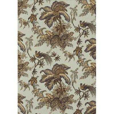 Coconut Grove Fabric Upholstery: Aqua/Tan