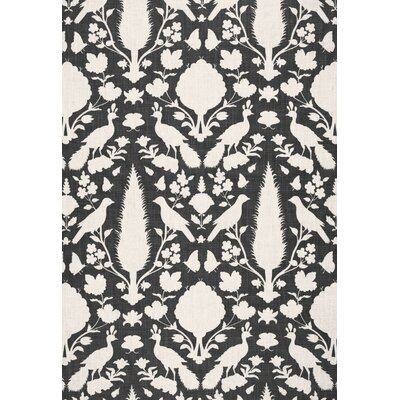 Exuberant Prints Chenonceau Fabric Upholstery: Charcoal