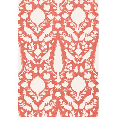 Exuberant Prints Chenonceau Fabric Upholstery: Coral