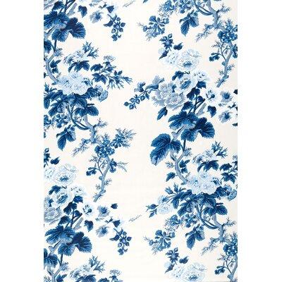 Pyne Hollyhock Fabric Upholstery: Indigo