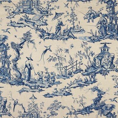 Shengyou Toile Fabric Upholstery: Indigo