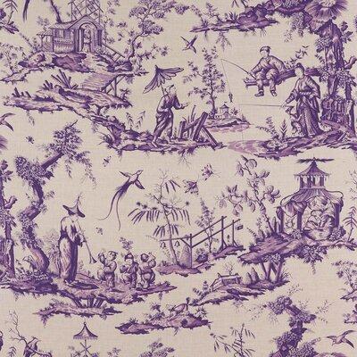 Shengyou Toile Fabric Upholstery: Iris