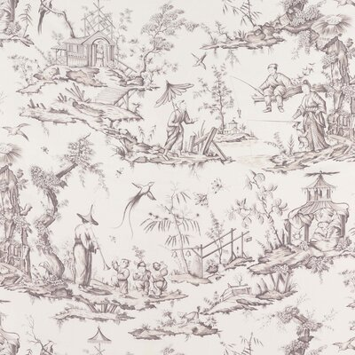 Shengyou Toile Fabric Upholstery: Driftwood