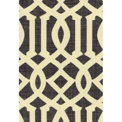 Imperial Trellis Fabric Upholstery: Parchment/Midnight