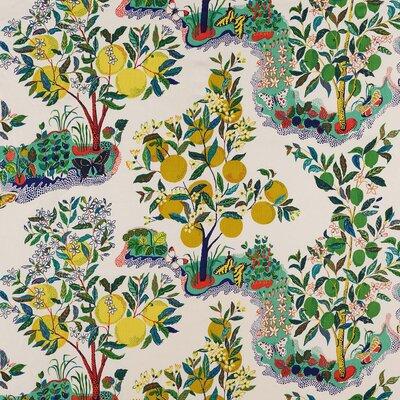 Good Vibration Citrus Garden Fabric Upholstery: Pool