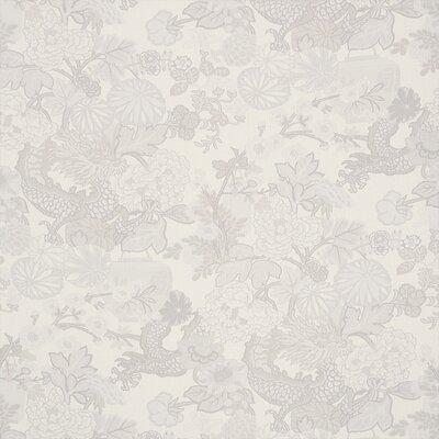 Exuberant Chiang Mai Dragon Fabric Upholstery: Limestone