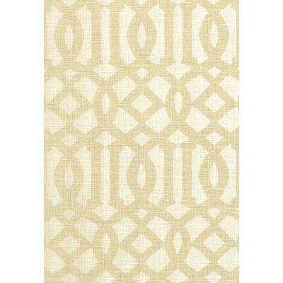 Modern Prints Imperial Trellis II Fabric Upholstery: Sand/Ivory