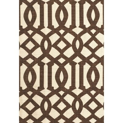 Modern Prints Imperial Trellis II Fabric Upholstery: Java/Cream