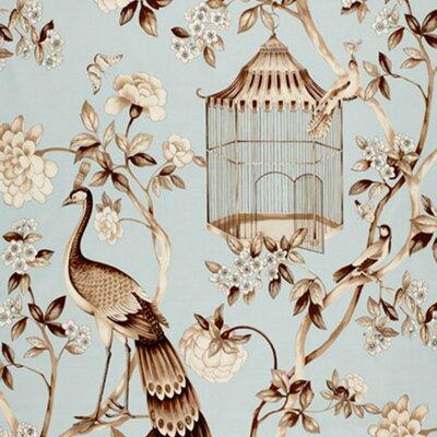 Oiseaux Et Fleurs Fabric Upholstery: Mineral