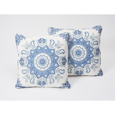 Montecito Medallion Linen Throw Pillow