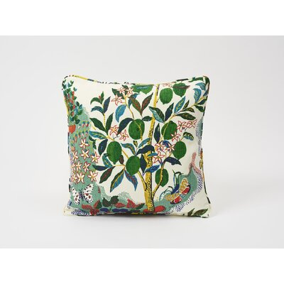 Citrus Garden Linen Throw Pillow Color: Primary