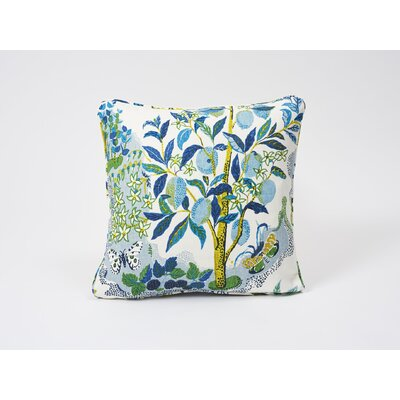 Citrus Garden Linen Throw Pillow Color: Pool
