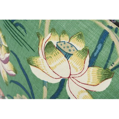 Lotus Garden Linen Throw Pillow