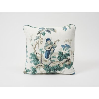 Plaisirs De La Chine Linen Throw Pillow