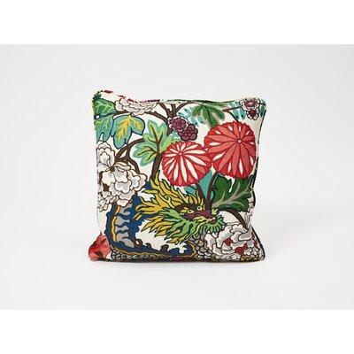 Chiang Mai Dragon Linen Throw Pillow Color: Alabaster